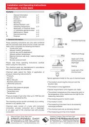 B7 Diaphragm/in-line seals - ARMATURENBAU GmbH und ...