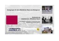 Öffentlicher Raum - Lokale Agenda 21 Wien