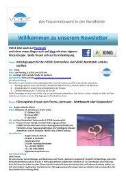 Newsletter Mai 2012 - Voice Frauennetzwerk