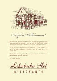 Herzlich Willkommen! - Lehmbacher Hof
