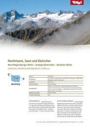 Hochmoore, Seen und Gletscher Neue Regensburger Hütte - Tirol