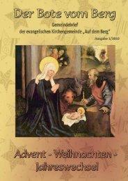 Advent-Weihnachten-Jahreswechsel 2009/2010 - Evangelische ...