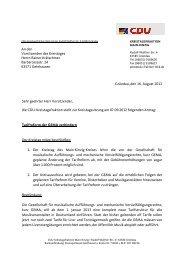 Gründau, den 16. August 2012 Sehr geehrter Herr Vorsitzender, die ...