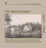 150 Jahre Grünau - Ev. Johanneswerk e.V. Johannesstift