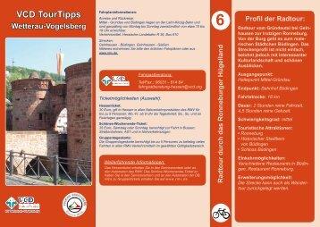 Radtour durch das Ronneburge Hügelland - VCD