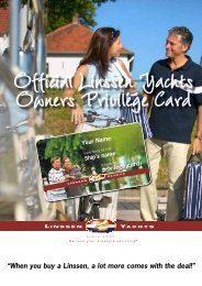privilege card Your Name Ship's name - Linssen Yachts