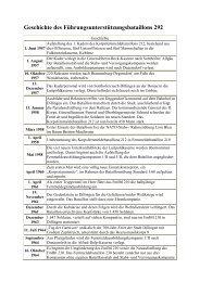 Geschichte des Führungsunterstützungsbataillons 292