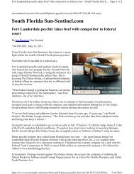 South Florida Sun-Sentinel.com - Fort Lauderdale Business Lawyers
