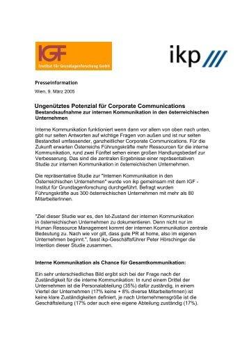 Presseinformation ikp/IGF-Studie (pdf)