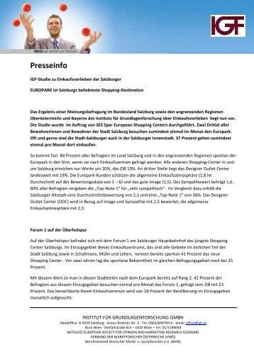 Presseinfo zur IGF-Studie (pdf)