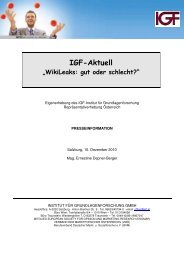 Finden Sie es richtig, dass vertrauliche Informationen auf ... - IGF
