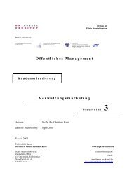 Öffentliches Management - Master of Public Administration ...