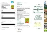 Frühjahrstagung des Bundesverbandes der Regionalbewegung