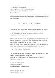 Bericht Nov 2011 Endfassung Rede - Evangelische Kirche in ...