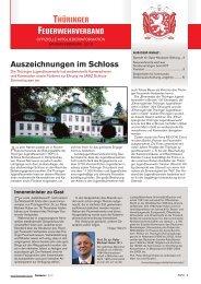 Auszeichnungen im Schloss - Thüringer Feuerwehrverband e.V.