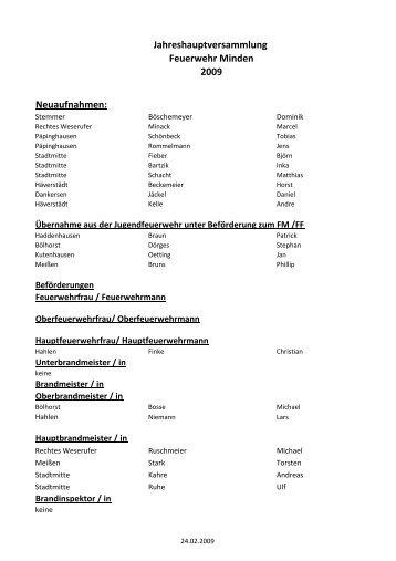 Beförderungsliste im PDF-Format - Feuerwehr Minden