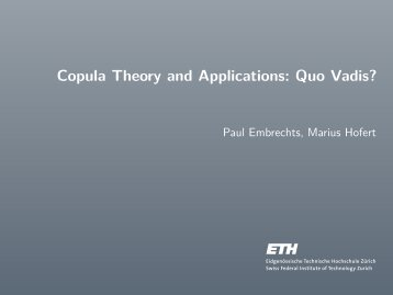 Copula Theory and Applications: Quo Vadis?