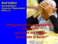 Rolf Höfert Geschäftsführer Deutscher Pflegeverband ... - Heilberufe