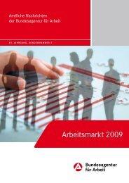 Arbeitsmarkt 2009 - Statistik der Bundesagentur für Arbeit
