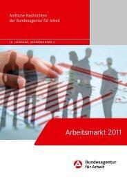 Arbeitsmarkt 2011 - Statistik der Bundesagentur für Arbeit