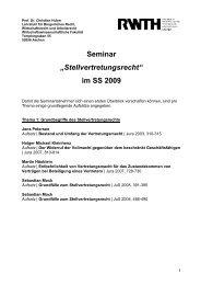 """Seminar """"Stellvertretungsrecht"""" - Lehrstuhl für Bürgerliches Recht ..."""