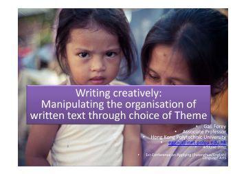 o Forey, G. 2011. Writing creatively - The Hong Kong Polytechnic ...