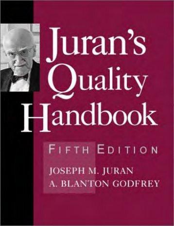 Juran's Quality Handbook (5th Ed.) [ripped by sabbanji @ epubcn]