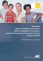 Berufsbild Elektro-Installations-Techniker Elektro ... - AK - Tirol