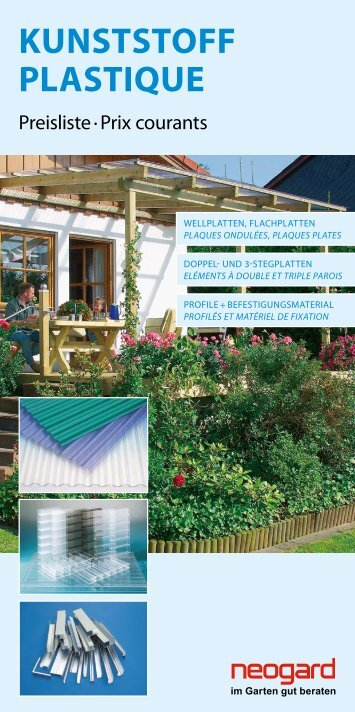 KUNSTSTOFF PLASTIQUE - Baumaterial-Riehen