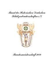 2009 - Bund der Historischen Deutschen Schützenbruderschaften ...