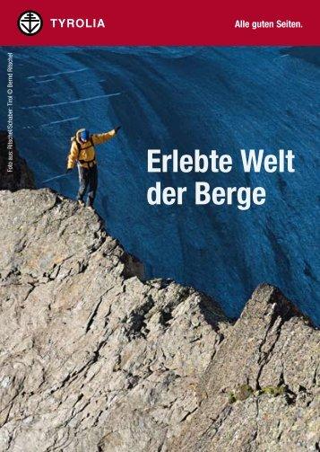 Erlebte Welt der Berge - Tyrolia Verlag