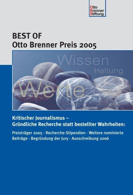 begründung der jur y - Otto Brenner Shop