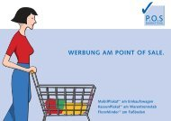 Werbung AM POINT OF SALE. - POS Marketing