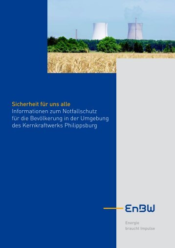 Broschüre des Kernkraftwerks Philippsburg - RP Karlsruhe