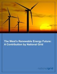 The West's Renewable Energy Future: A Contribution by National Grid
