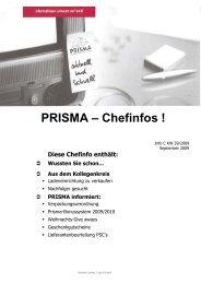 PRISMA – Chefinfos ! - Prisma Fachhandels AG