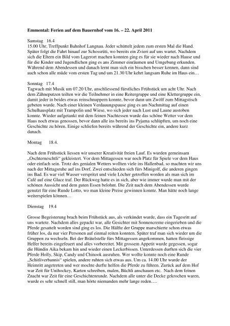 Bericht der Reiseleitung - Procap