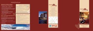 Winterinformation 2012/13 - Hotel Schwarzer Adler