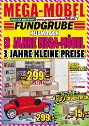 3 Jahre kleine Preise - MEGA Möbel Fundgrube Kulmbach, Pegnitz