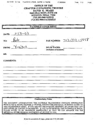 Trustee Peake Loan Request Form   J. Thomas Black
