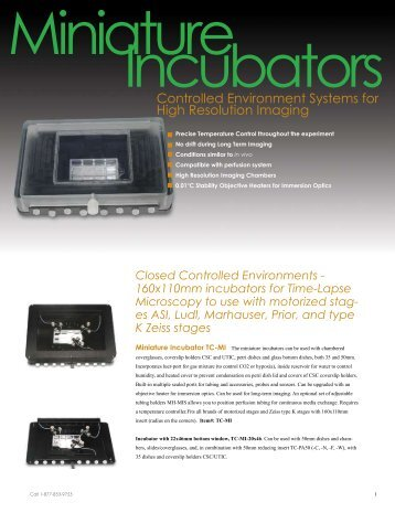 Controlled Environment Systems for High ... - Bioscience Tools