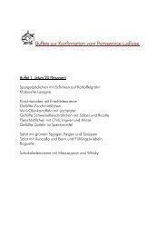 Konfirmations-Buffet - Partyservice Hildegard Ludlage