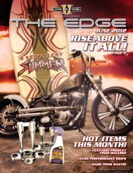 rise above it all! page 5 hot items this month! - Custom Chrome, Inc