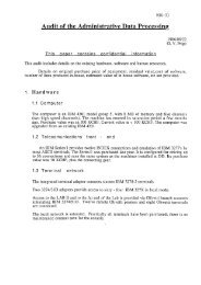 Audit of the Administrative Data Processing - CERN Document Server