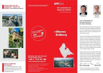 Viertelskonzept Oberes-Erdberg - SPÖ Landstrasse
