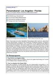 Panamakanal: Los Angeles– Florida - Reisebüro Mittelthurgau Fluss ...