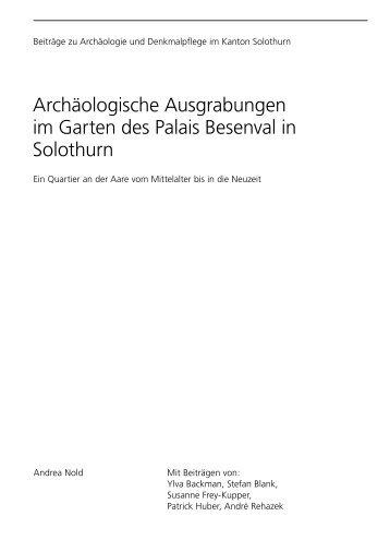 Archäologische Ausgrabungen im Garten des Palais Besenval in ...