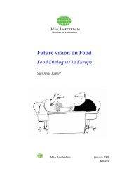 Future vision on Food - Imsa
