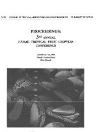 PROCEEDINGS: - ctahr - University of Hawaii