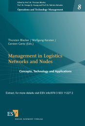 Management in Logistics Networks and Nodes - Hamburg ...